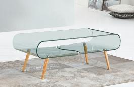 Konferenčný stolík CRISTAL - buk / sklo