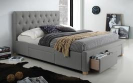 Čalúnená posteľ OSLO 160x200 - šedá