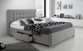 Čalúnená posteľ LINCOLN 160x200 - šedá