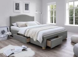 Čalúnená posteľ CELINE 160x200 - šedá