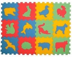 Penový koberec- zvieratá, 12 dielikov