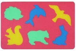 Penové puzzle koberec divoké zvieratá, 6 dielikov