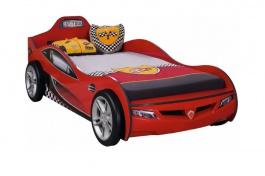 Detská posteľ auto SUPER 90x190cm - červená