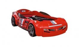 Detská posteľ auto SUPER DELUXE 90x195cm - červená