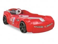 Detská posteľ auto DELUXE 90x195cm - červená