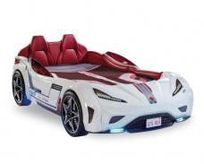 Detská posteľ auto EXCLUSIVE 100x190cm - biela