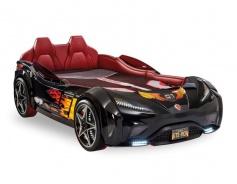 Detská posteľ auto EXCLUSIVE 100x190cm - čierna