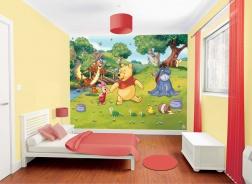 Dětská 3D tapeta na zeď Walltastic - Medvídek Pů