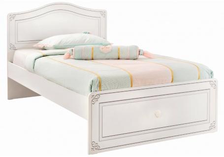 Študentská posteľ Betty 120x200cm - biela