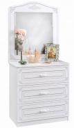 Zásuvková komoda Betty so zrkadlom - biela