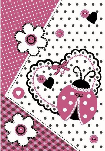 Detský koberec Ladybug pink