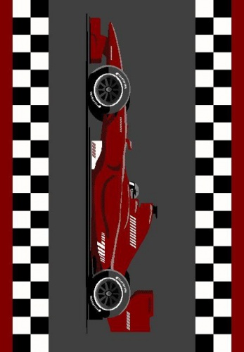 Detský kusový koberec Racing Red