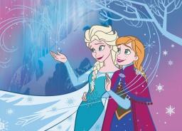 Detský koberec Frozen - Anna a Elsa