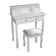 Toalený stolík / toaletka, biela, RODES NEW