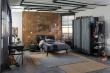 Veľká študentská izba Nebula - sivá/čierna