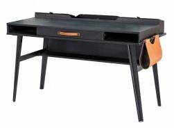 Veľký písací stôl Nebula - sivá/čierna