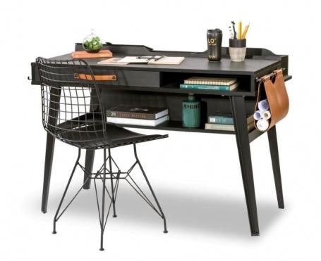 Malý písací stôl Nebula - sivá / čierna