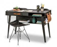 Malý písací stôl Nebula - sivá/čierna
