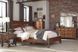 Nočný stolík HOLVERSON - hnedý topoľ