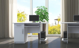 Pracovný stôl Vıber 1D1S biela ľavý