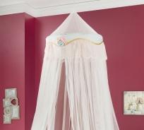 Nebesia nad posteľ Rachel - biela/mintová