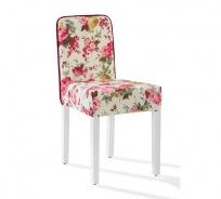 Vintage stolička Orchid so vzorom - kvety
