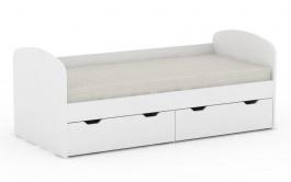 Detská posteľ REA Golem s 2 zásuvkami - biela