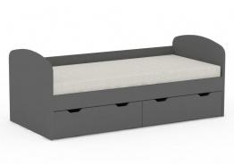 Detská posteľ REA Golem s 2 zásuvkami - graphite