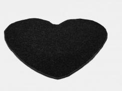 Koberec Color Shaggy srdce 120 cm - antra