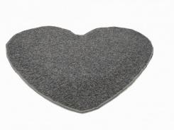 Koberec Elite Shaggy srdce 120 cm - svetlo šedá