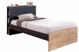 Študentská posteľ 120x200cm Sirius - dub čierny/dub zlatý
