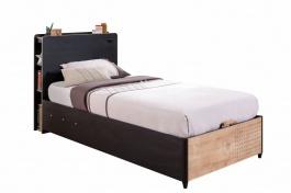Detská posteľ s úložným priestorom 100x200cm Sirius - dub čierny/dub zlatý