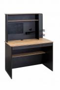 Malý písací stôl s nadstavcom Sirius - dub čierny/dub zlatý