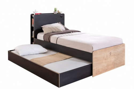 Detská posteľ Sirius so zásuvkou 100x200cm - dub čierny/dub zlatý