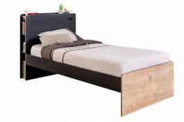 Detská posteľ 100x200cm Sirius - dub čierny/dub zlatý