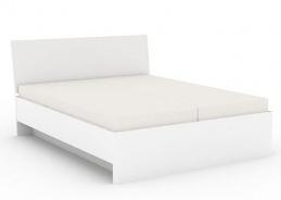 Manželská posteľ REA Oxana 160x200cm - biela