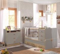 Detská izba Oliver I - sivá/dub svetlý