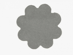 Koberec Color Shaggy - šedá - kvietok