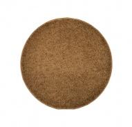 Koberec Elite Shaggy - svetlo hnedá - kruh