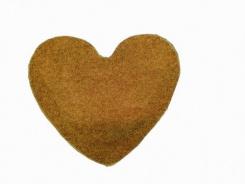 Koberec Elite Shaggy srdce 120 cm - svetlo hnedá