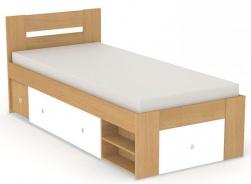 Posteľ REA Larisa 90x200cm s nočným stolíkom - buk