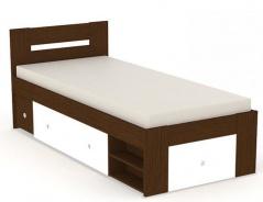 Posteľ REA Larisa 90x200cm s nočným stolíkom - wenge