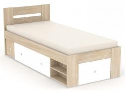 Posteľ REA Larisa 90x200cm s nočným stolíkom - dub bardolino