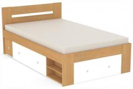 Študentská posteľ REA Larisa 120x200cm s nočným stolíkom - buk