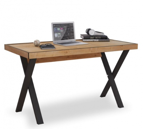 Industriálny písací stôl Sirius - dub zlatý/čierna