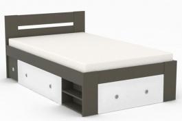 Študentská posteľ REA Larisa 120x200cm s nočným stolíkom - graphite