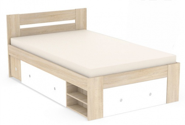 Študentská posteľ REA Larisa 120x200cm s nočným stolíkom - dub bardolino