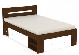 Študentská posteľ REA Larisa 120x200cm s nočným stolíkom - wenge