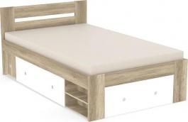 Študentská posteľ REA Larisa 120x200cm s nočným stolíkom - dub canyon