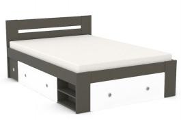 Posteľ REA Larisa 140x200cm s nočnými stolíkmi - graphite